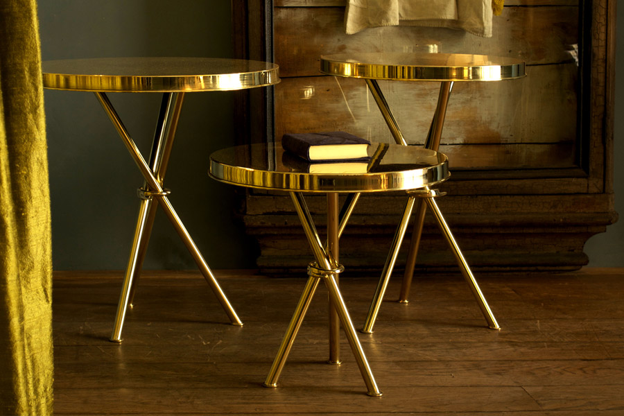 GOLD coffee table<br>By<br>Wunderkammer studio